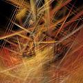 Abstract Crisscross by Deborah Benoit