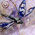 Abstract Dragonfly 9 by J Vincent Scarpace