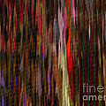 Abstract Faces In Crowd by J Burns