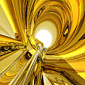 Abstract Gold Rings by Phil Perkins