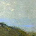 Abstract Landscape - Green Hillside by Kathleen Grace
