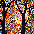 Abstract Modern Tree Landscape Distant Worlds By Amy Giacomelli by Amy Giacomelli