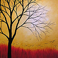 Abstract Original Tree Painting Summers Anticipation By Amy Giacomelli by Amy Giacomelli