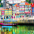 abstract Portuguese city Porto-1 by Joel Vieira