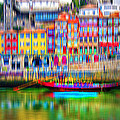 abstract Portuguese city Porto-3 by Joel Vieira