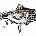 Abstract Redfish 1 by J Vincent Scarpace
