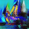 Abstract Regatta by David Lane