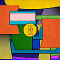 Abstract Shapes Color One by Gary Grayson