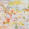 Abstract Summer Sky Watercolor Painting by Georgeta  Blanaru