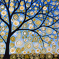 Abstract Tree Nature Original Painting Starry Starry By Amy Giacomelli by Amy Giacomelli