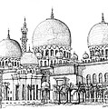 Abu Dhabi Masjid In Ink  by Adendorff Design