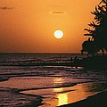 Accra Beach Sunset by Ronald Griffith