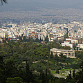 Acropolis View Of Athens by Gregory Lafferty