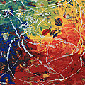 Acrylic  Poured  And  Dripped  2001 by Carl Deaville