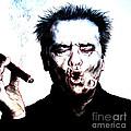 Actor Jack Nicholson Smoking  II by Jim Fitzpatrick