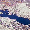 Aerial Of Abiquiu Reservoir Covered by Rich Reid