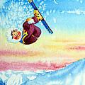 Aerial Skier 13 by Hanne Lore Koehler