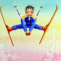Aerial Skier 17 by Hanne Lore Koehler
