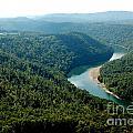 Aerial View Gauley River by Thomas R Fletcher
