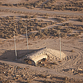 Aerial View Of A Destroyed Iraqi by Terry Moore