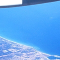 Aerial View Of An Airplane Flying Over Valencia In Spain Headed East Towards The Mediterranean Sea by John Shiron