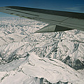 Aerial View Of Himalaya From Plane En by Gordon Wiltsie