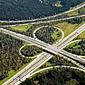 Aerial View Of Junction In Bavaria by Daniel Reiter