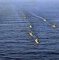 Aerial View Of Ships In Formation by Stocktrek Images