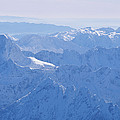 Aerial View Of The Snow-covered Julian by Carsten Peter
