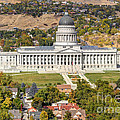 Aerial View Of Utah State Capitol Building by Gary Whitton