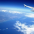 Aerial View Vi Airplane Flying Over Valencia In Spain Headed East Towards The Mediterranean Sea by John Shiron