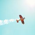Aerobatic Biplane Inverted by Kim Fearheiley
