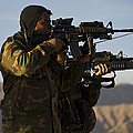 Afghan National Army Commandos Aim by Stocktrek Images