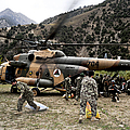 Afghan National Army Soldiers Unload by Stocktrek Images