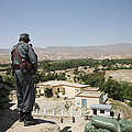 Afghan Policeman Standing by Terry Moore