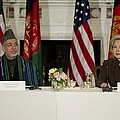 Afghan President Hamid Karzai And Sec by Everett