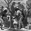 African American Slaves Using A Cotton by Everett