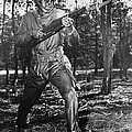African-american Soldier Charging by Everett