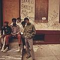 African American Teenage Street Gang by Everett