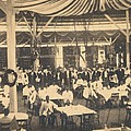 African American Waiters At A Banquet by Everett