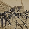 African American Work Crew In Northern by Everett