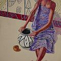 African Painter 3 by Pamela Mccabe