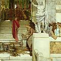 After The Audience by Sir Lawrence Alma-Tadema