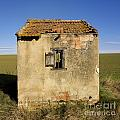 Aged Hut In Auvergne. France by Bernard Jaubert