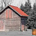 Aging Shed And Barrel by Mark J Seefeldt
