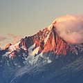 Aiguille Verte With Leeward Clouds by Benjamin F. Hall