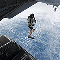 Air Force Pararescueman Jumps by Stocktrek Images