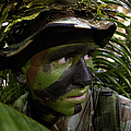 Airman Conceals Himself By Blending by Stocktrek Images