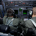 Airmen At Work In A Mc-130h Combat by Gert Kromhout