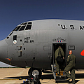 Airmen Board A C-130j Hercules At Dyess by Stocktrek Images